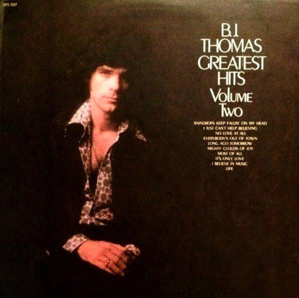 Greatest Hits Vol 2 Vinyl B J Thomas