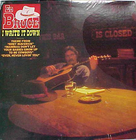 Ed Bruce - I Write It Down [vinyl] Ed Bruce