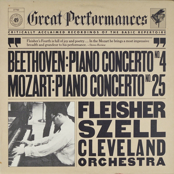 LEON FLEISHER GEORGE SZELL CLEVELAND ORCHESTRA - Great Performances Mozart: Concerto No.25 in C Major for Piano and Orchestra k.503 - LP