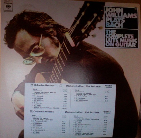 John Williams Bach: The Complete Lute Music On Guitar LP