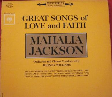 Great Songs of Love and Faith Original recording Vinyl Mahalia Jackson