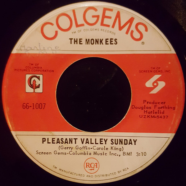 Pleasant Valley Sunday / Words