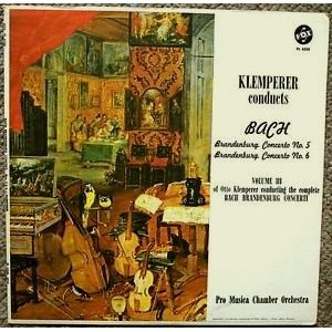 Klemperer Conducts Bach - Brandenburg Concerto No. 5 and 6 Volume III