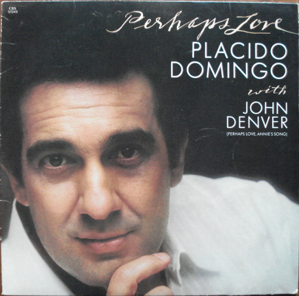 PLACIDO DOMINGO WITH JOHN DENVER - Perhaps Love - LP