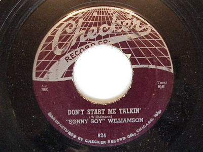 Sonny Boy Williamson 'Don't Start me Talkin'/All My Love In Vain'