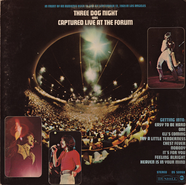 Three Dog Night Captured Live At The Form LP