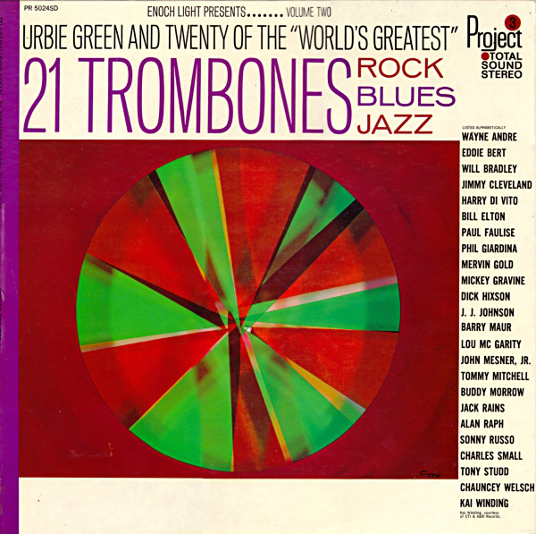 21 Trombones Rock//Blues/Jazz Volume Two