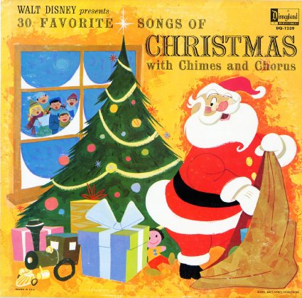WALT DISNEY - 30 Favorite Songs of Christmas Chimes And Chorus - LP