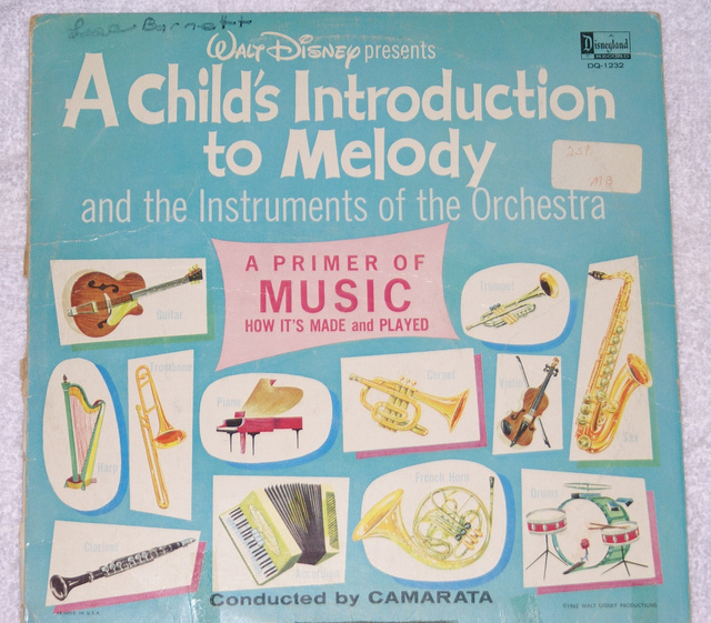 WALT DISNEY - A Child's Introduction to Melody and Instruments of the Orchestra - LP