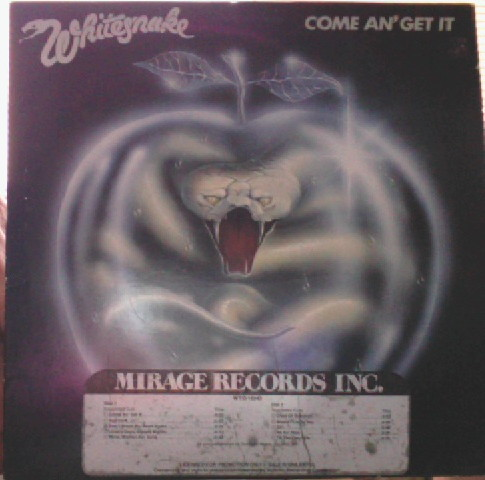 Whitesnake Vinyl Record Albums